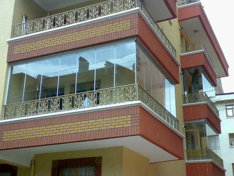Sürgülü Cam Balkon Modelleri, Katlanır Cam Sistemleri, Giyotinli Cam Balkon,